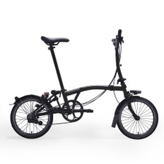 Brompton Black Edition Steel M6L Folding Bike with Mudguards (Raw Lacquer)
