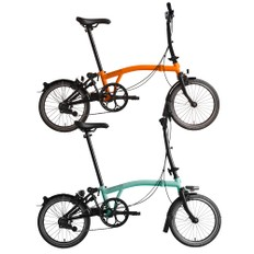 Brompton Black Edition Steel M2L Folding Bike with Mudguards