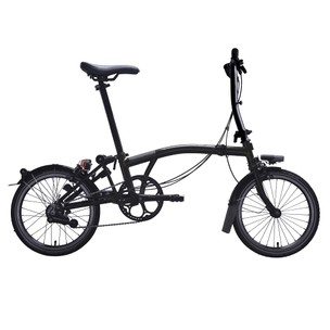 Brompton Black Edition Steel S2L Folding Bike With Mudguards