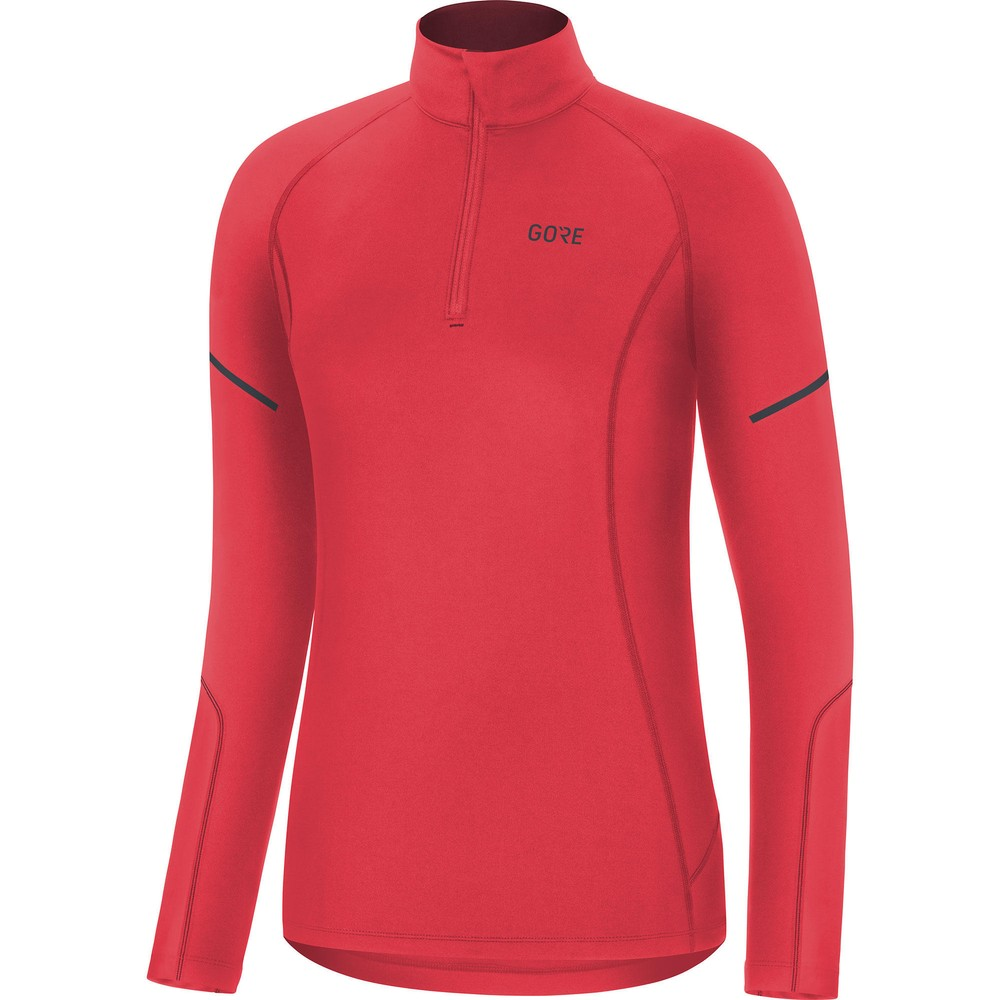 Gore Wear M Womens Mid Long Sleeve Zip Running Shirt