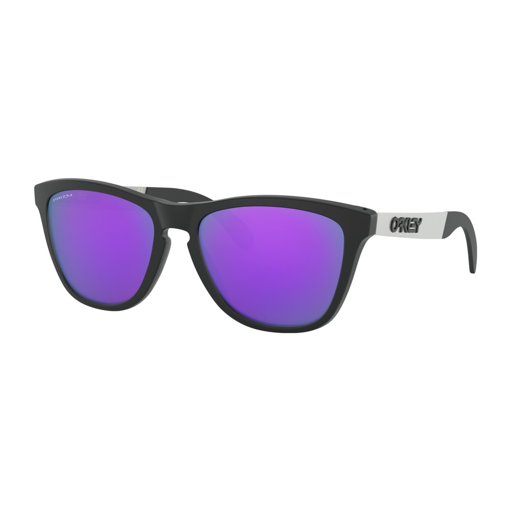 Oakley Frogskins Mix Metallic Sunglasses With Prizm Violet Lens