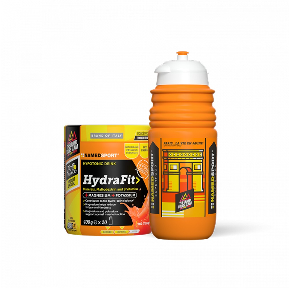 NAMEDSPORT HydraFit Energy Drink Mix 400g With Water Bottle