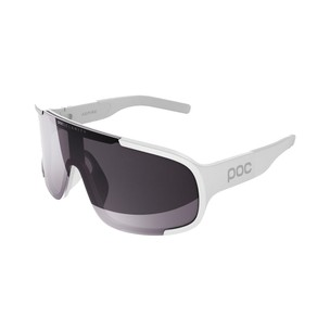 POC Aspire Sunglasses Hydrogen White With Violet/Silver Mirror Lens
