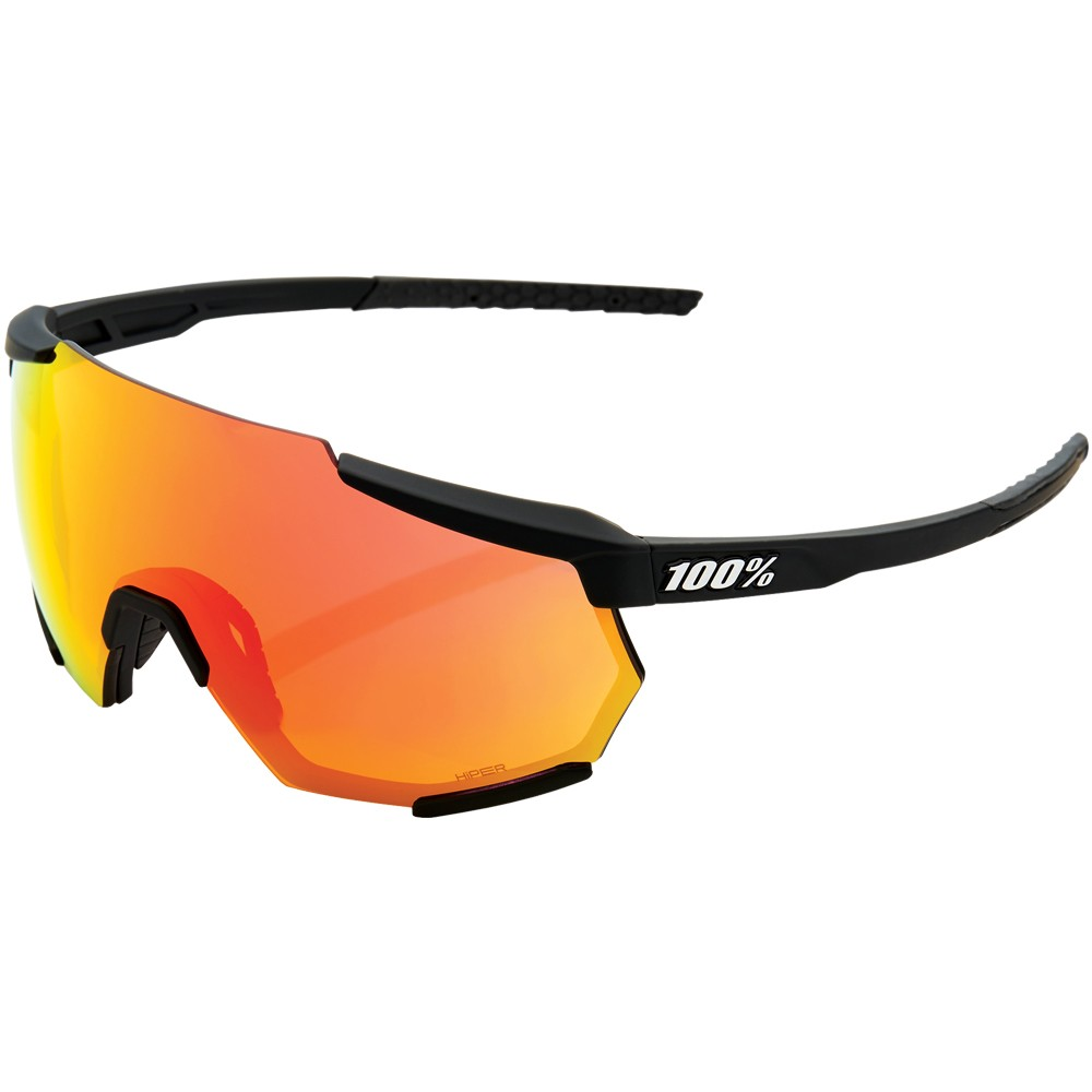 100% Racetrap Sunglasses With HiPER Red Multilayer Mirror Lens