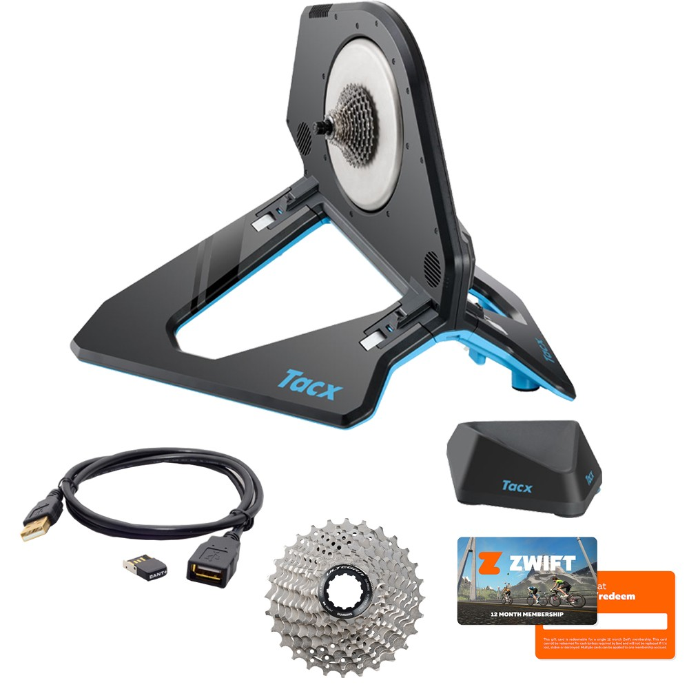 Tacx Neo 2T Smart Direct Drive Turbo Trainer Zwift Bundle