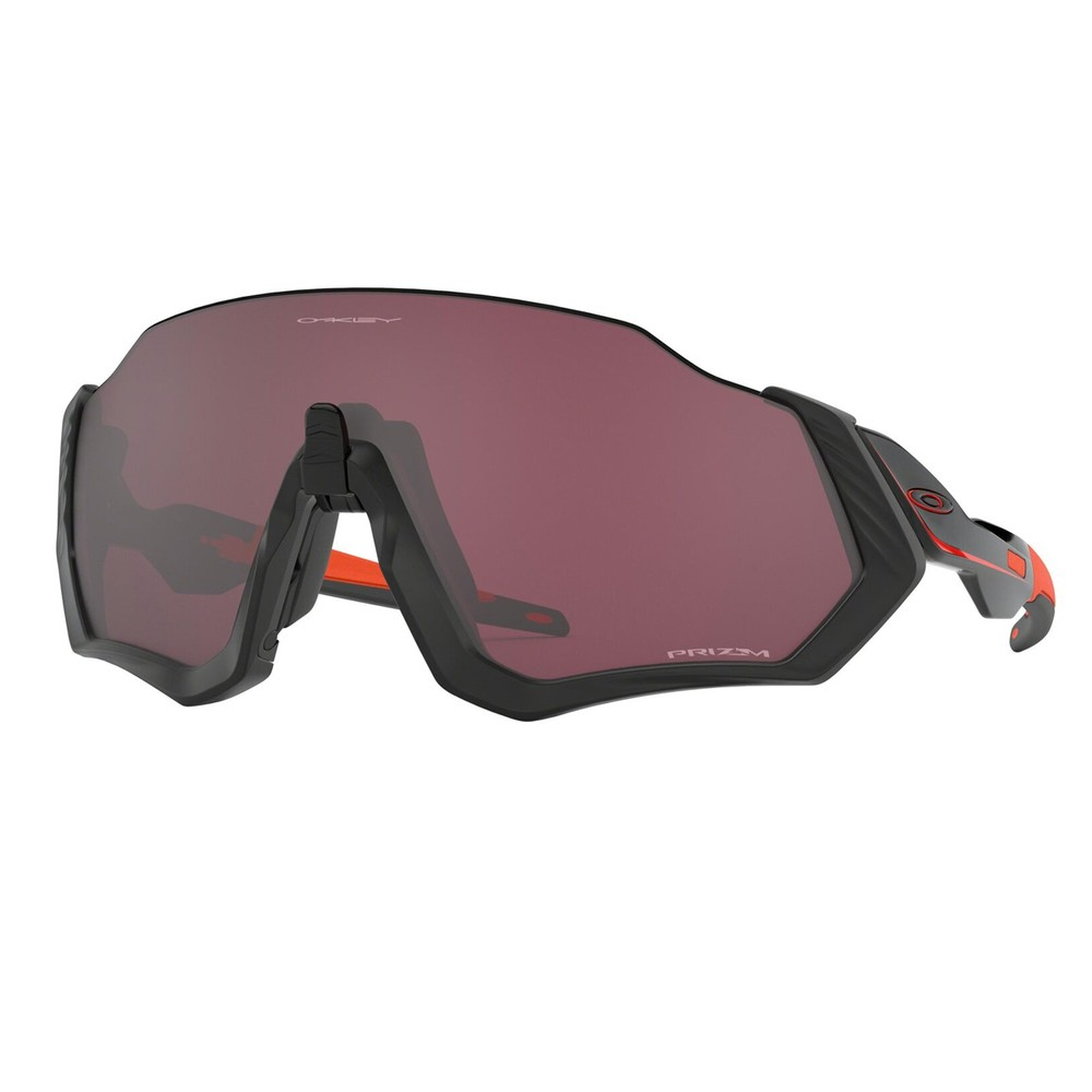 Oakley Flight Jacket Sunglasses With Prizm Road Black Lens