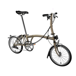 Brompton Steel S6L Folding Bike With Mudguards & Front Carrier Block