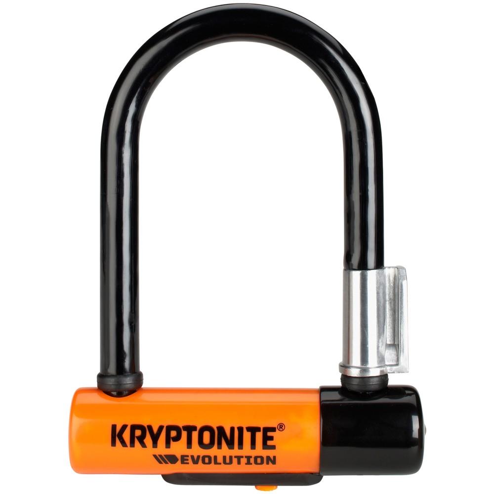 Kryptonite Evolution Mini-5 Lock With Flexframe U Bracket Sold Secure Gold