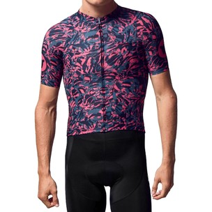 Black Sheep Cycling Predator Prey LTD Neon Zebra Short Sleeve Jersey