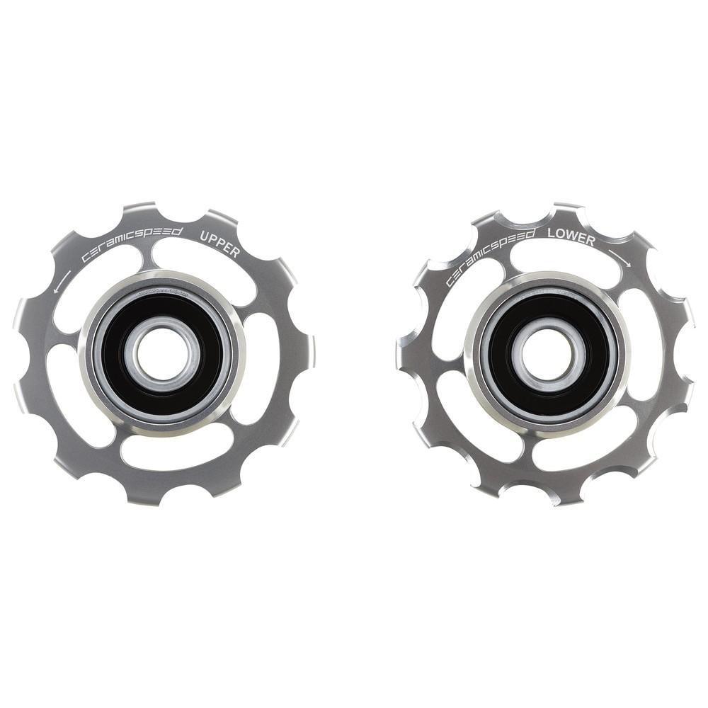 CeramicSpeed SRAM 11-Speed Road Coated Pulley Wheels - Silver Ltd Edition