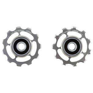 CeramicSpeed Campagnolo 11-Speed Road Coated Pulley Wheels - Silver Ltd Edition