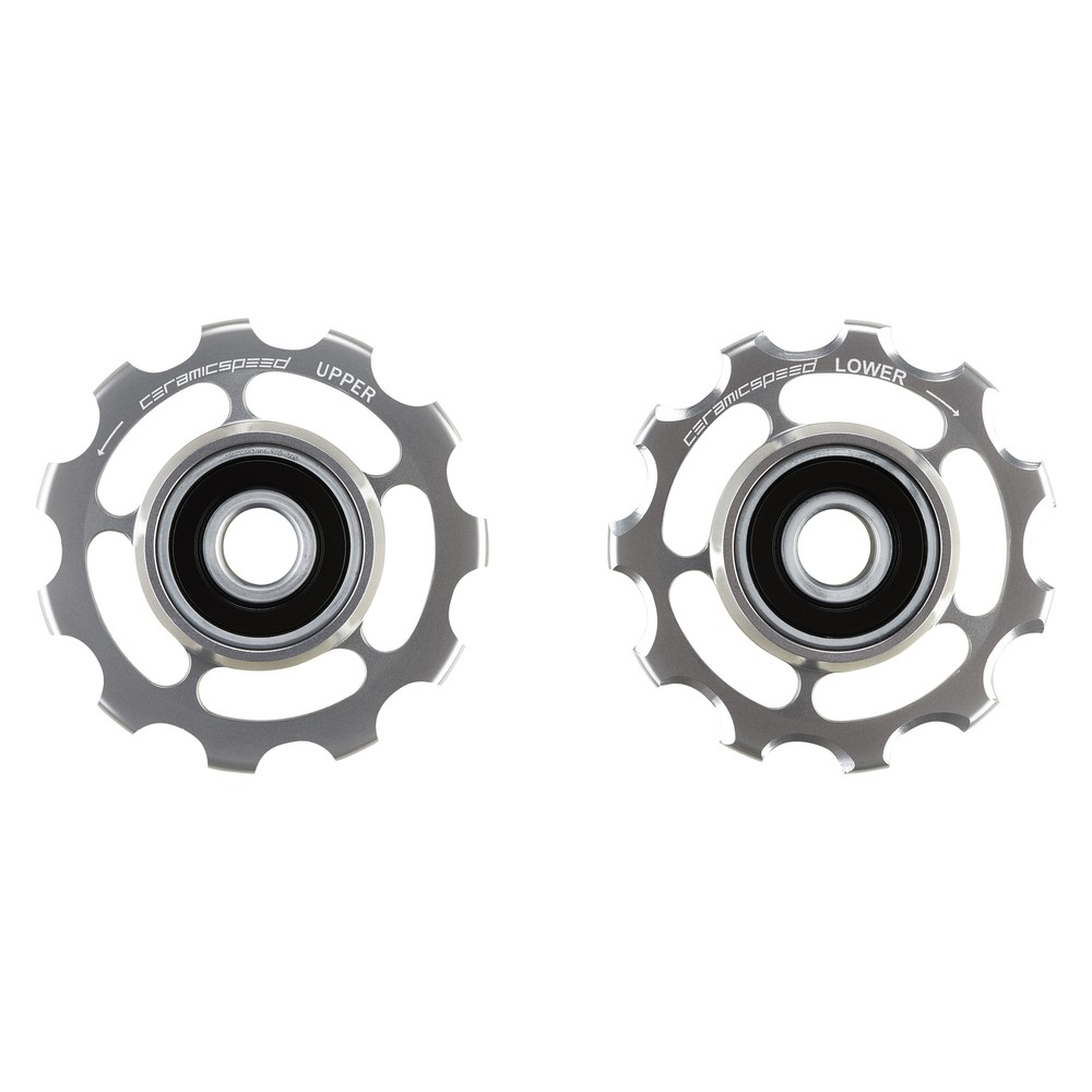 CeramicSpeed Shimano 11-Speed Road Coated Pulley Wheels - Silver Ltd Edition