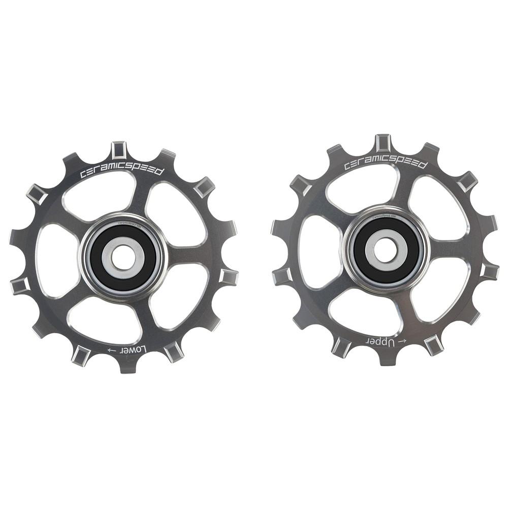 CeramicSpeed Shimano XT/XTR MTB Coated Pulley Wheels - Silver Ltd Edition