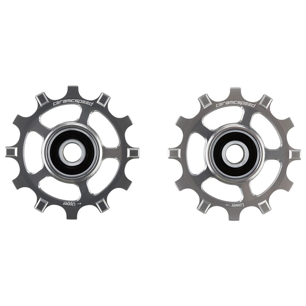 CeramicSpeed SRAM 1-11-Speed MTB Coated Pulley Wheels - Silver Ltd Edition