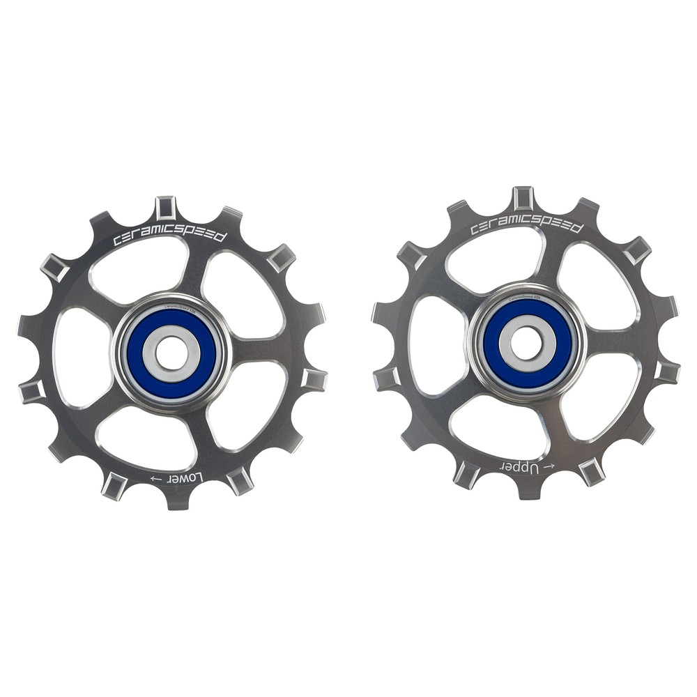 CeramicSpeed Eagle 14 MTB Coated Pulley Wheels - Silver Ltd Edition