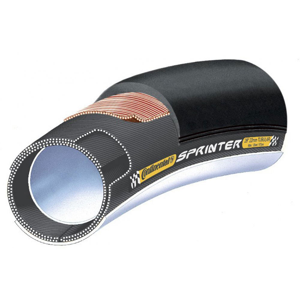 Continental Sprinter Tubular Tyre Black 700x22