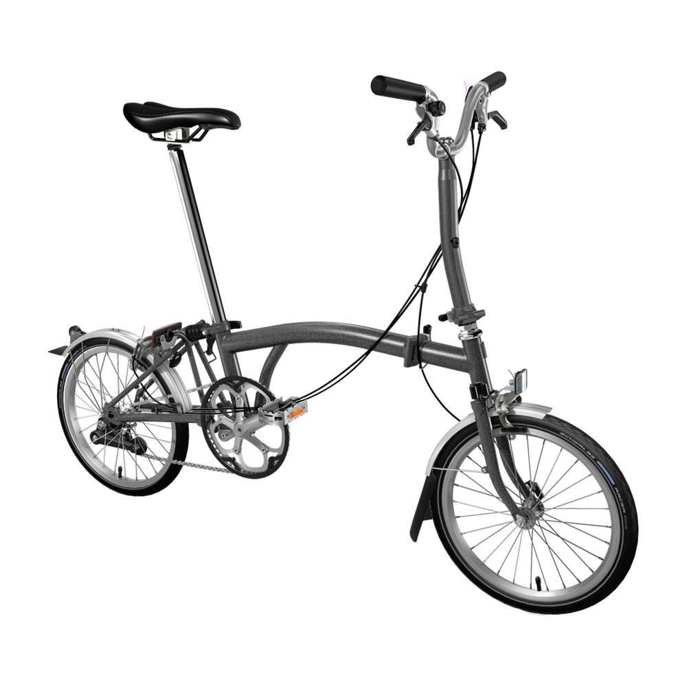 Brompton Steel M2L Folding Bike With Mudguards