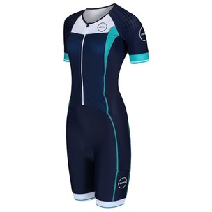 Zone3 Lava Long Distance Full Zip Short Sleeve Womens Trisuit