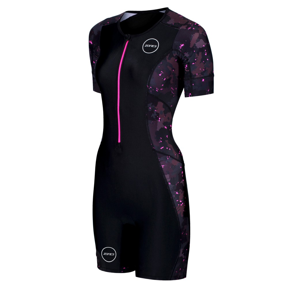 Zone3 Activate Plus Stealth Camo Short Sleeve Womens Trisuit