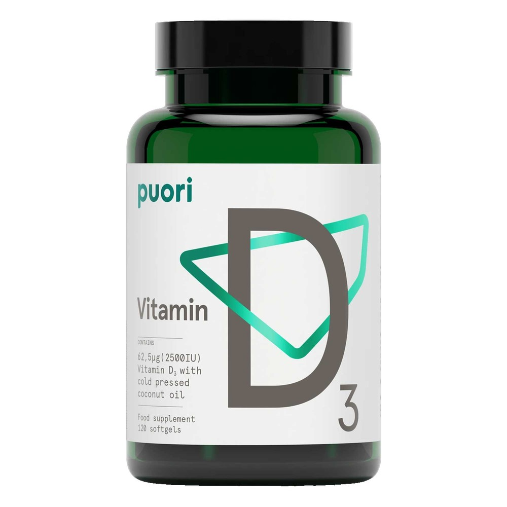 Puori D3 - Vitamin D (2500 IU)  - 120 Softgels