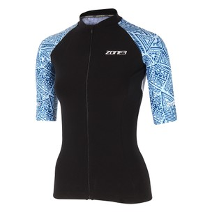 Zone3 Lava Long Distance Short Sleeve Womens Tri Top