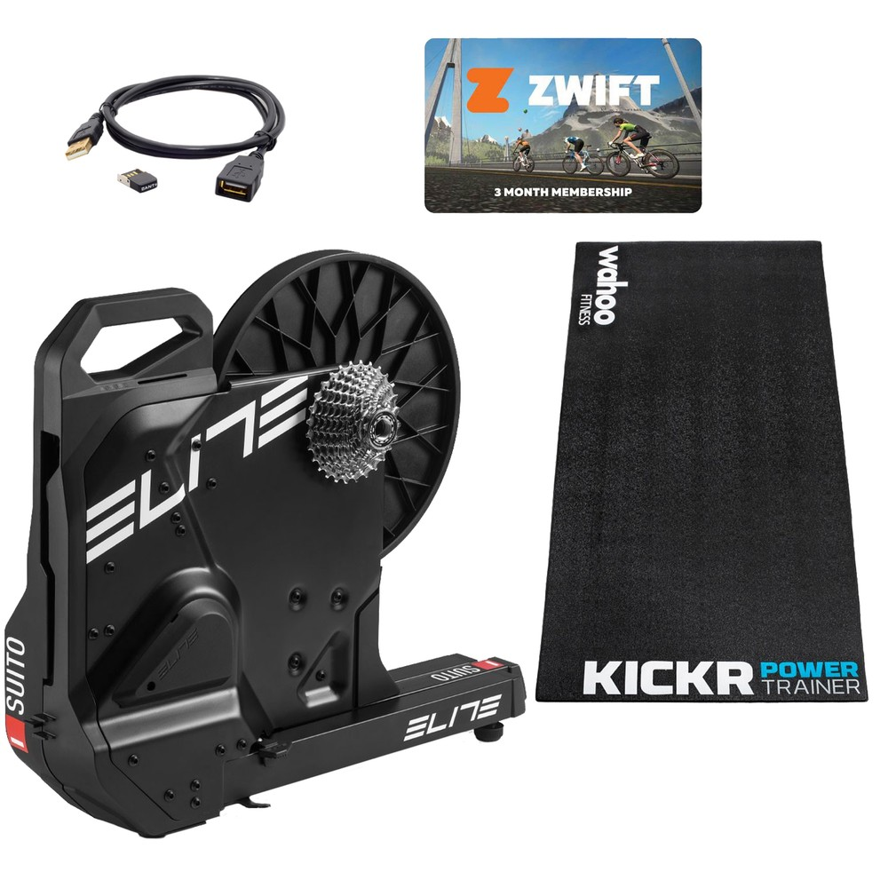 Elite Suito Direct Drive FE-C Mag Turbo Trainer Zwift Bundle