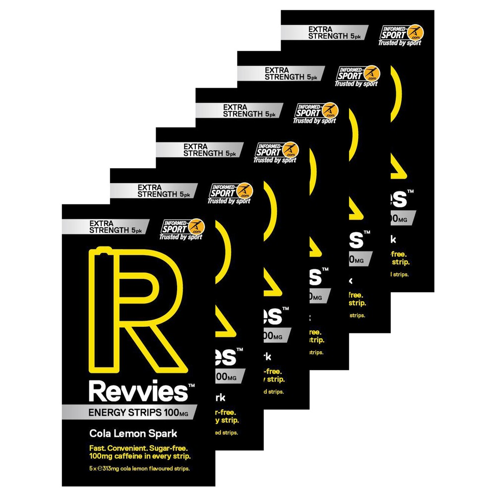 Revvies Energy Extra Strength Strips Box Of 6 X 5 Pack