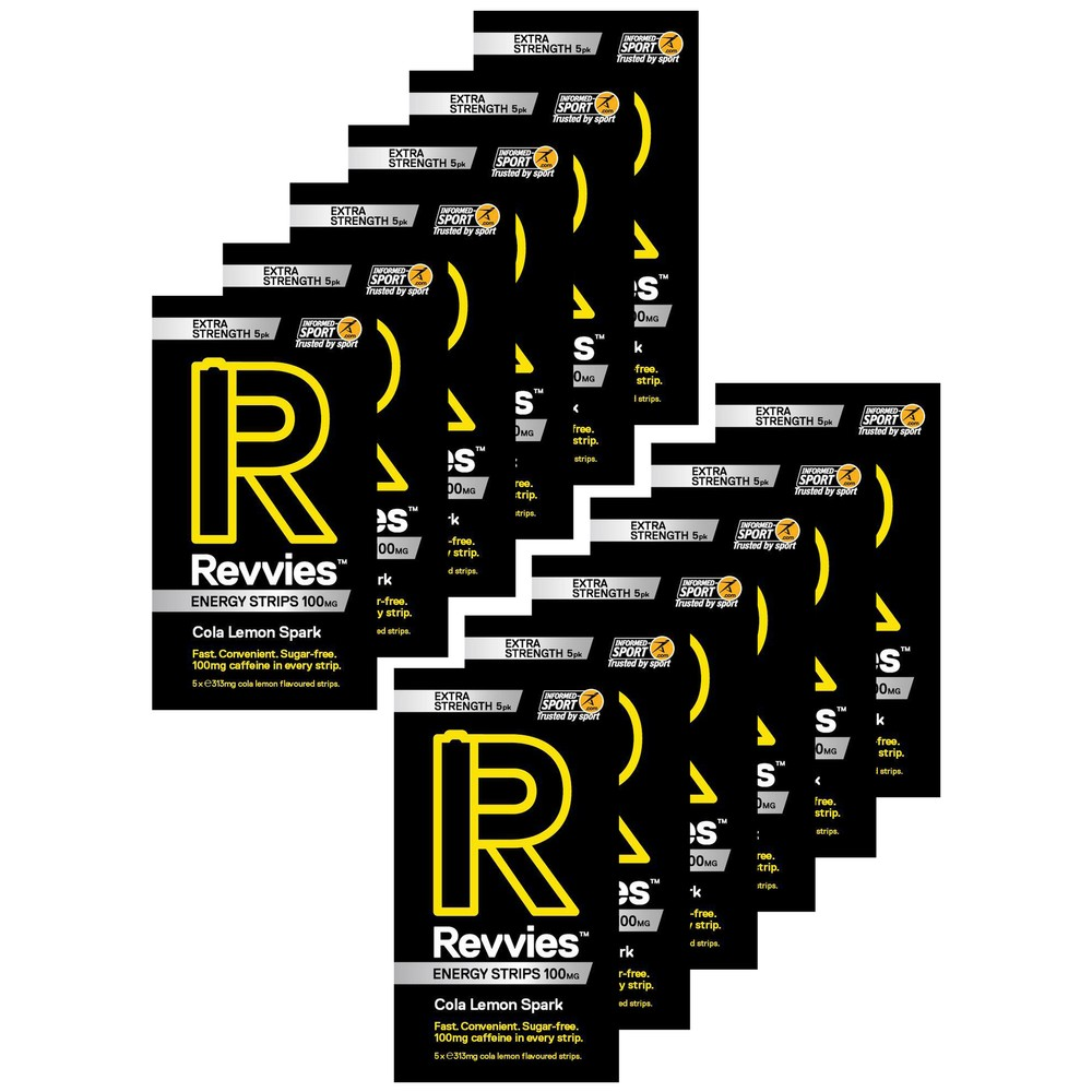 Revvies Energy Extra Strength Strips Box Of 12 X 5 Pack