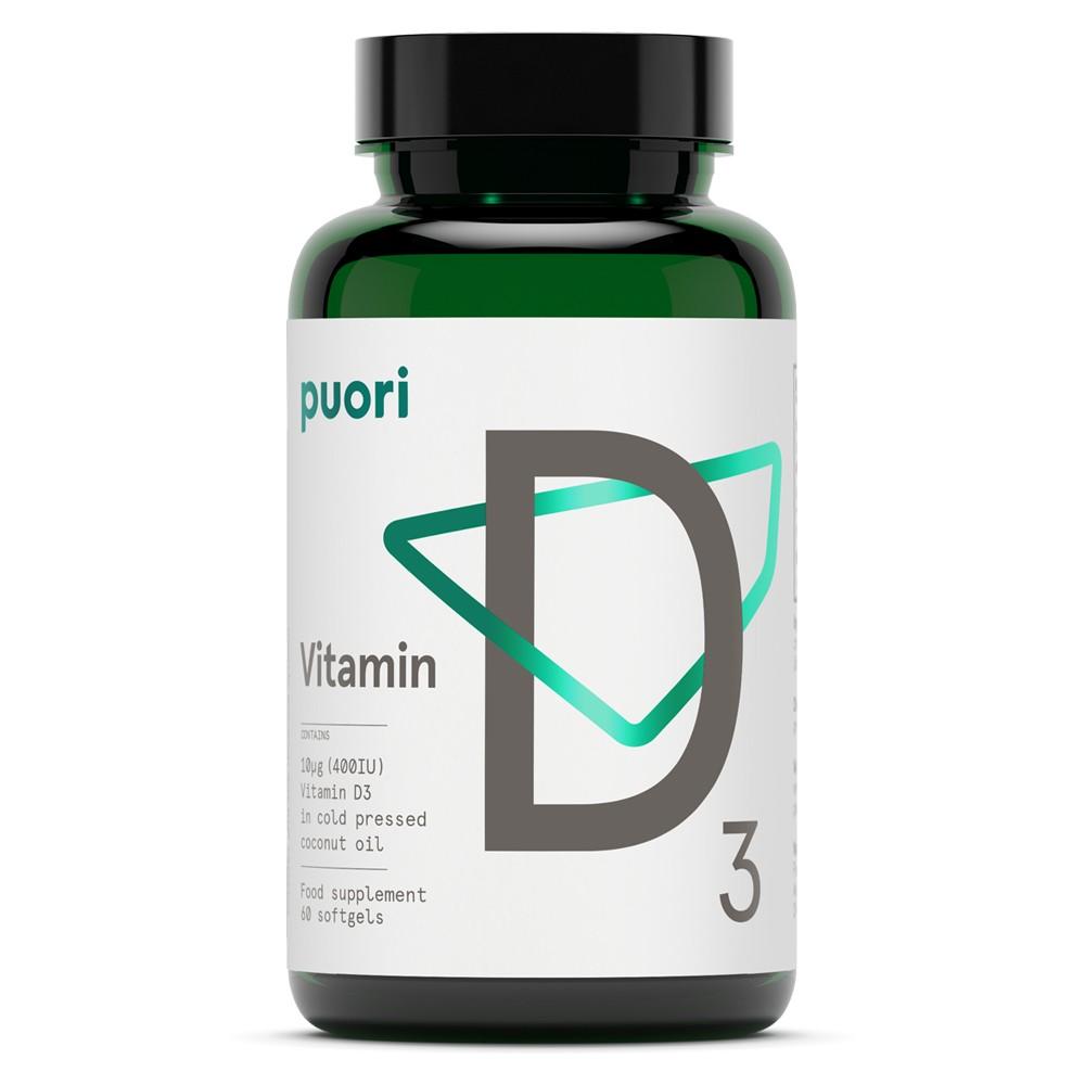 Puori D3 - Vitamin D (400IE) - 60 Softgels
