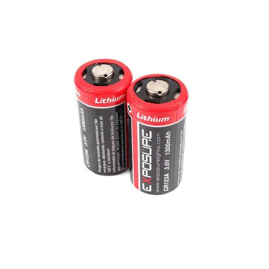 Exposure Lights Disposable RCR123 Batteries