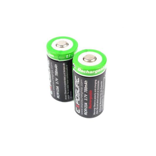 Exposure Lights Rechargeable RCR123 Light Batteries