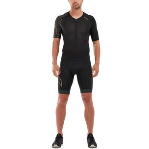 2XU Compression Short Sleeve Full Zip Trisuit
