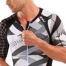 2XU Compression Short Sleeved Full Zip Trisuit