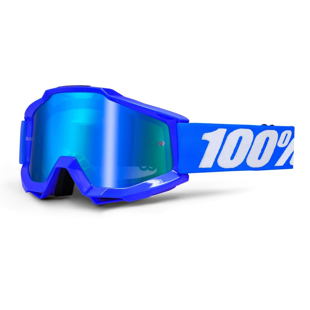 100% Accuri Goggles With Blue Mirror Lens