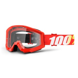 100% Strata Goggles With Clear Lens