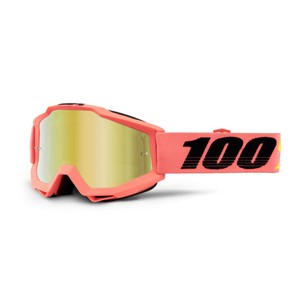 100% Accuri Goggles With Gold Mirror Lens