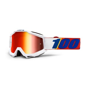 100% Accuri Goggles With Red Mirror Lens