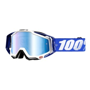 100% Racecraft Goggles With Blue Mirror Lens