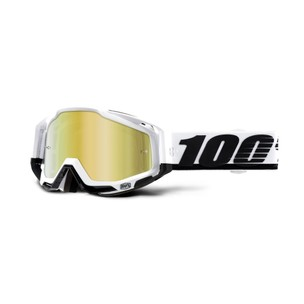 100% Racecraft Goggles With Gold Mirror Lens