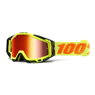 100% Racecraft Goggles With Red Mirror Lens