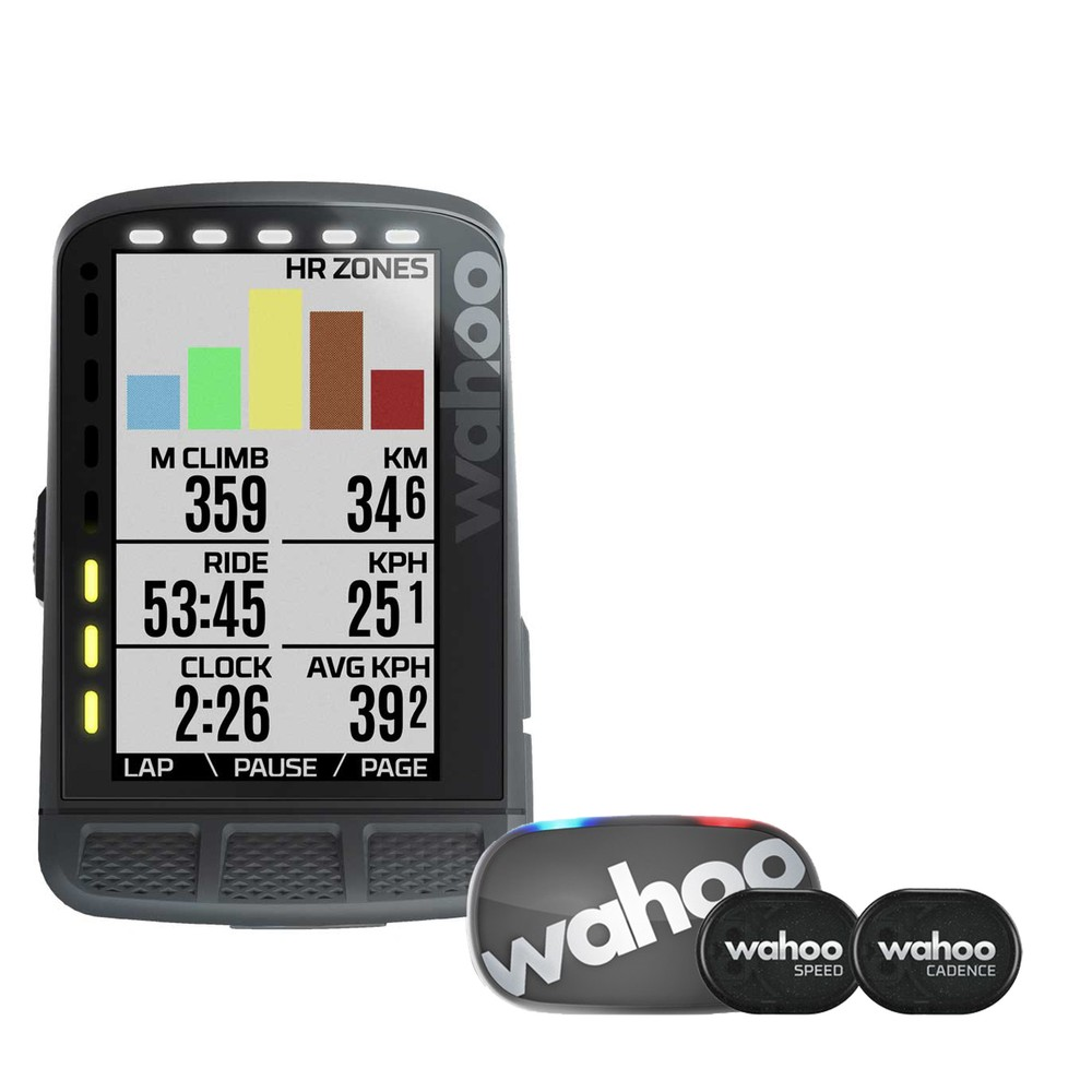 Wahoo ELEMNT ROAM GPS Cycling Computer Bundle (Gen 2 Accessories)