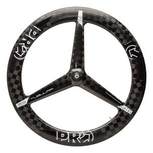 PRO Textreme Carbon 3 Spoke Tubular Front Wheel