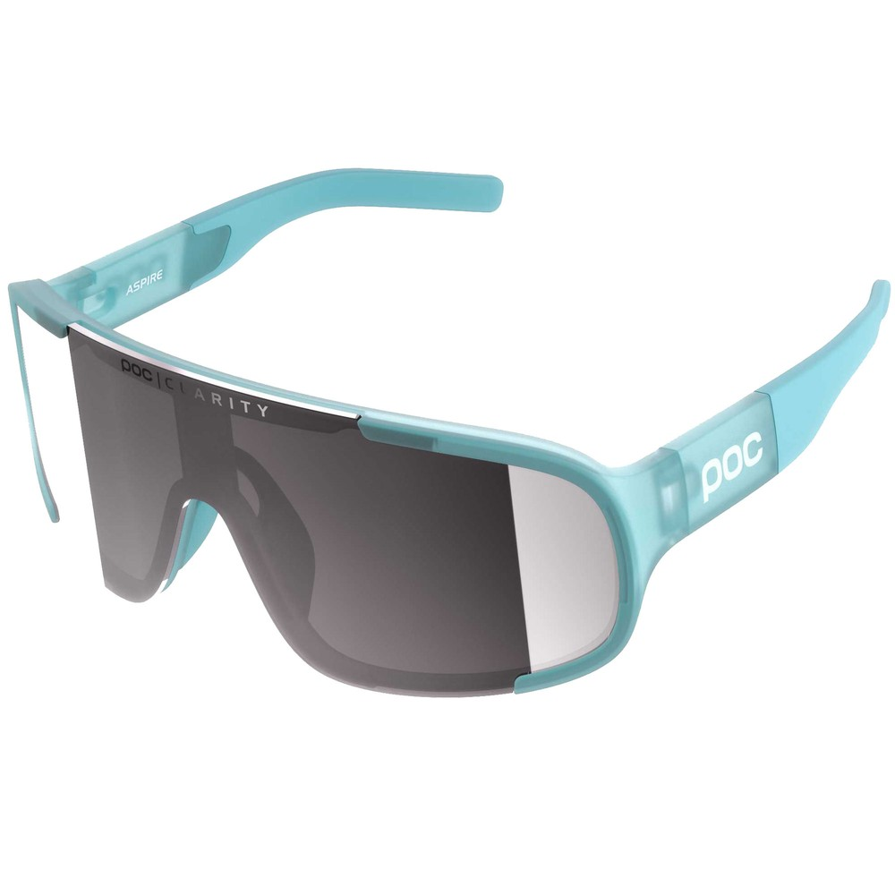 POC Aspire Clarity Sunglasses Kalkopyrit Blue With Violet/Silver Lens