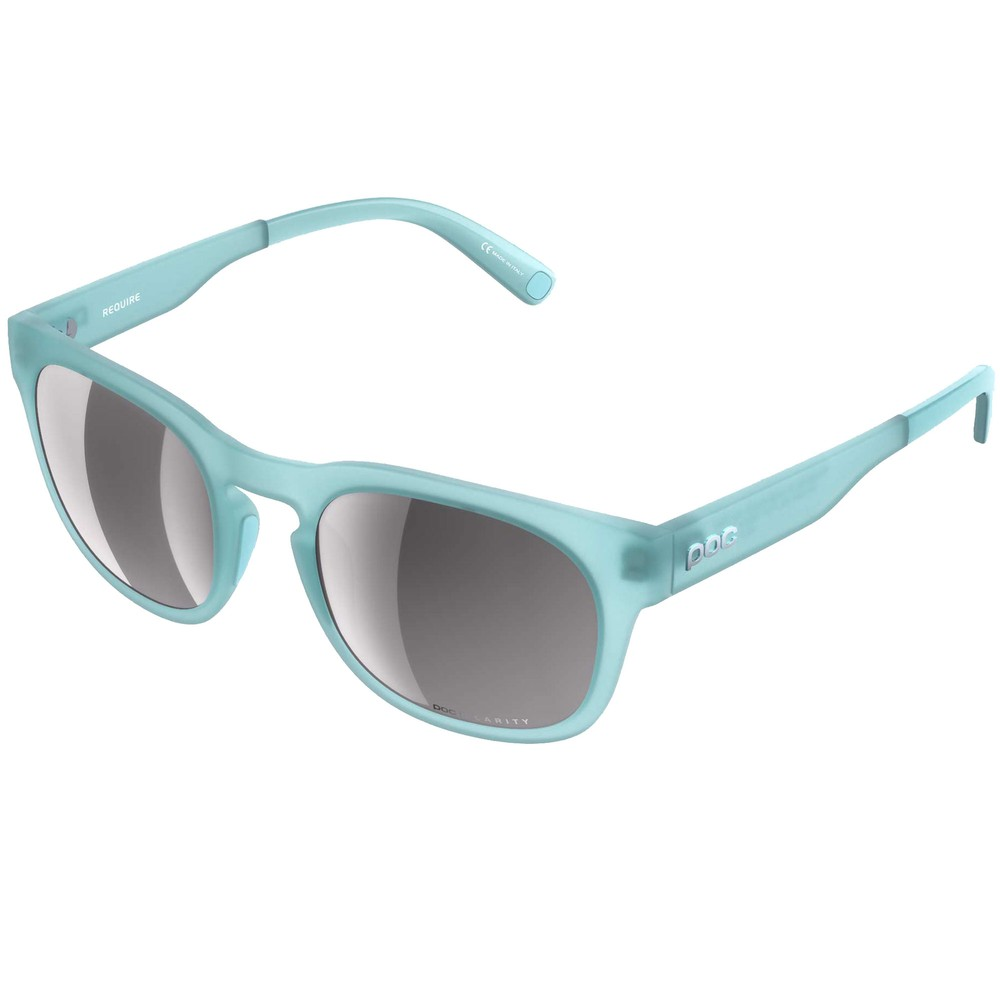 POC Require Sunglasses Kalkopyrit Blue With Violet/Silver Mirror Lens
