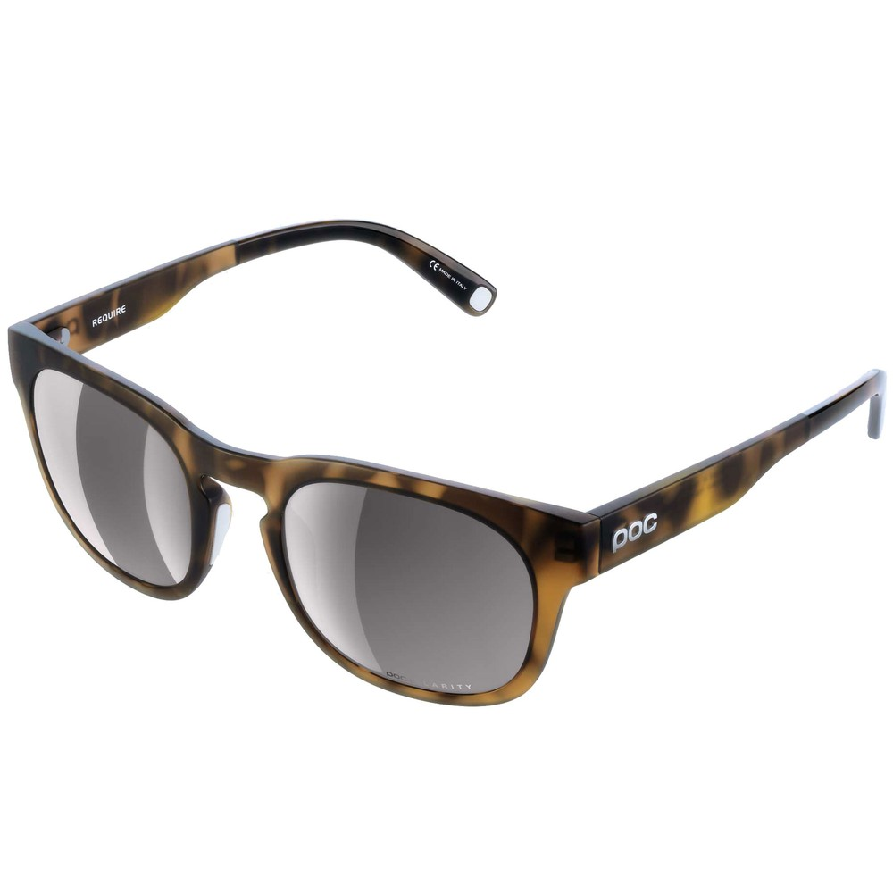 POC Require Sunglasses Tortoise Brown With Violet/Silver Mirror Lens