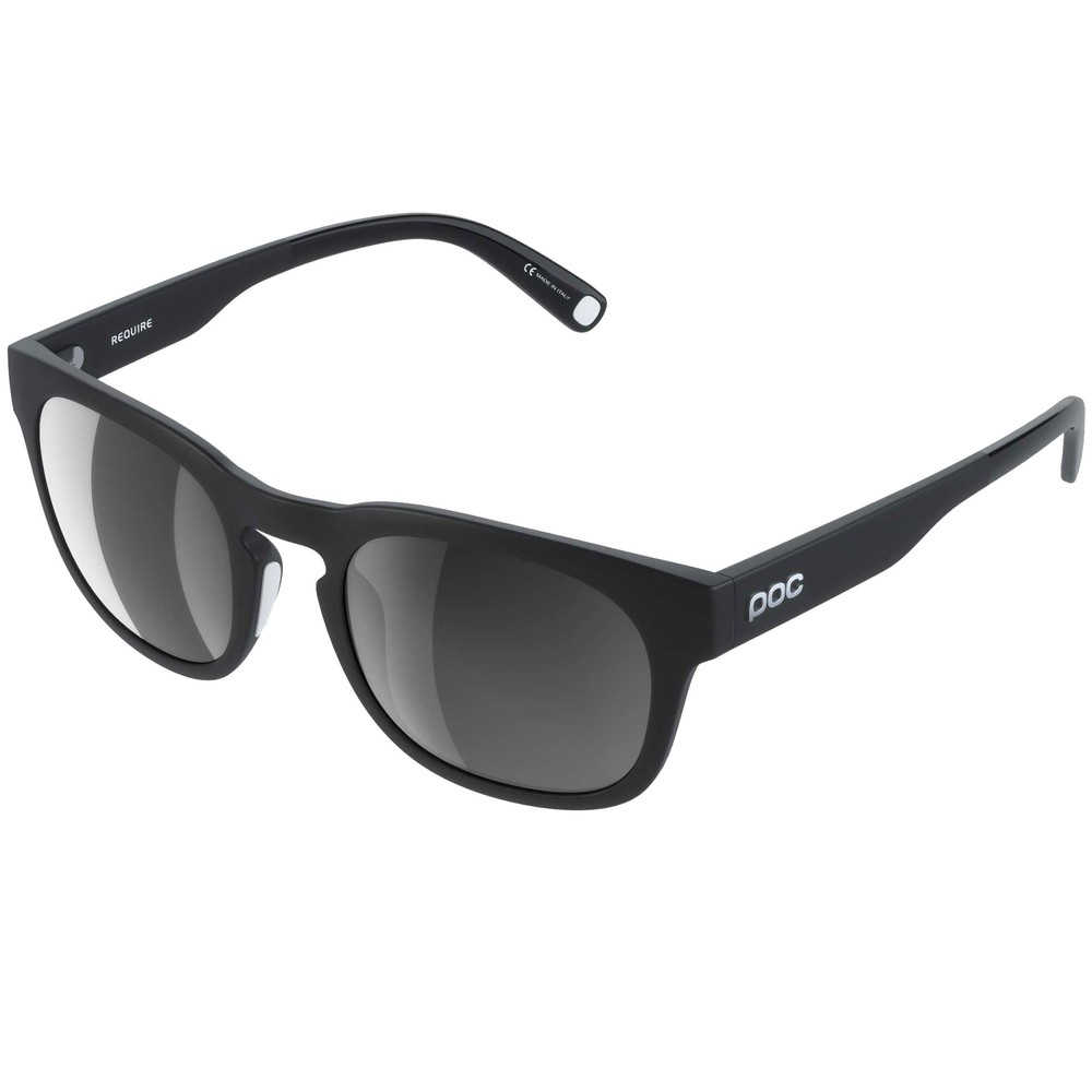 POC Require Sunglasses Uranium Black With Cold Brown/Silver Mirror Lens