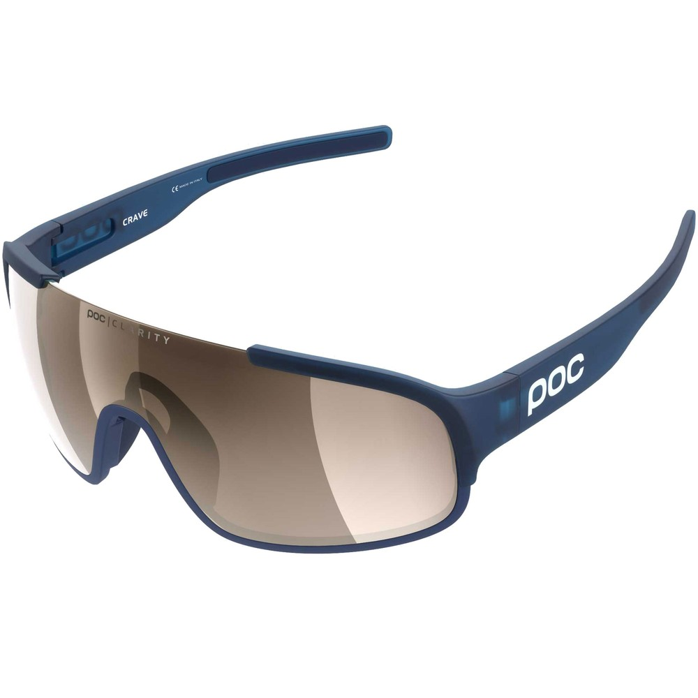 POC Crave Clarity Sunglasses Lead Blue With Brown/Silver Mirror Lens