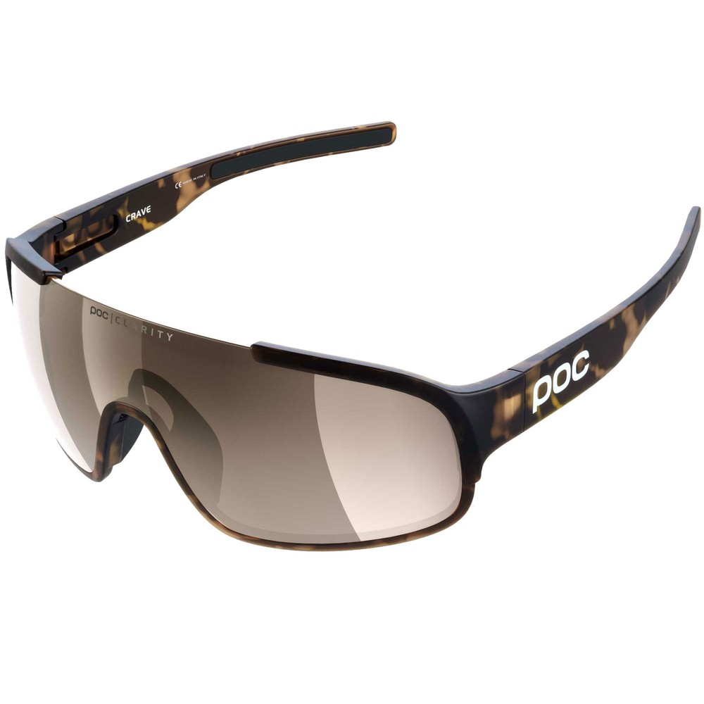POC Crave Clarity Sunglasses Tortoise Brown With Brown/Silver Mirror Lens