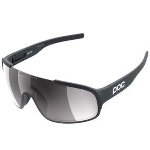 POC Crave Clarity Sunglasses Uranium Black With Violet/Silver Mirror Lens