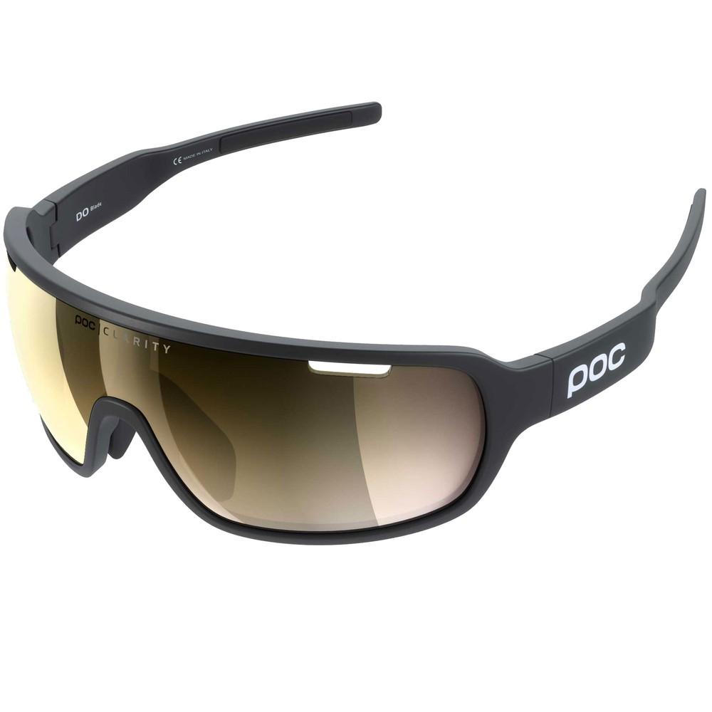 POC Do Blade Clarity Sunglasses Uranium Black With Violet/Gold Mirror Lens